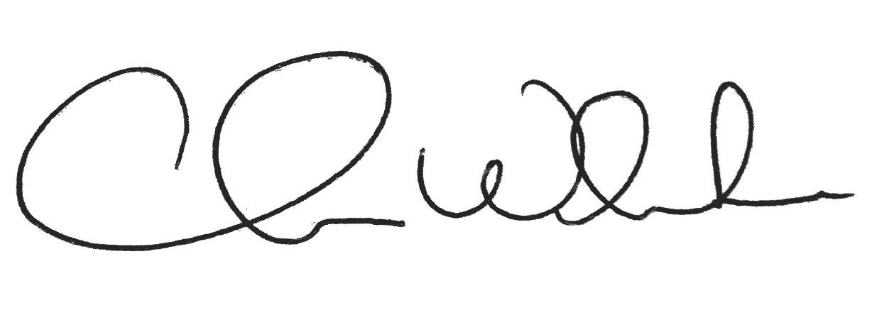 Chris White, President signature